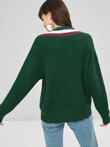 Contraste Verde Ripped Contraste Sweater Verde Ripped Oscuro Sweater Oscuro Contraste T8wrqxpT