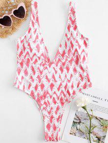 منعرج الزاك تغرق السامي قص ملابس السباحة - البطيخ الوردي L