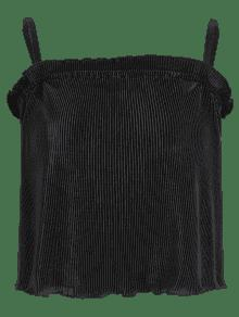 Volantes Con Negro L Plisado Camis n8xq11