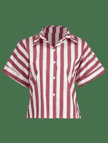 Raglan Rayada Rojo S Manga Cereza Camisa xEAww