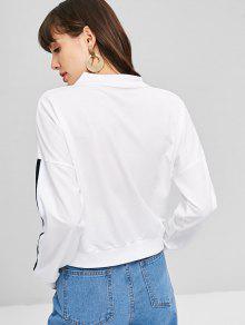 Sweatshirt Blanco Pullover Neck Sudadera High S ptvqxTw