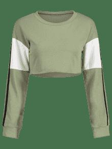 Iguana Color Verde Sudadera De S Block Crop Xw10Hp
