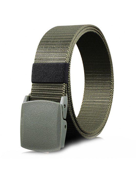 Gürtelschnalle aus Metall Verzierter Gürtel aus Leinen - Bundeswehrgrün