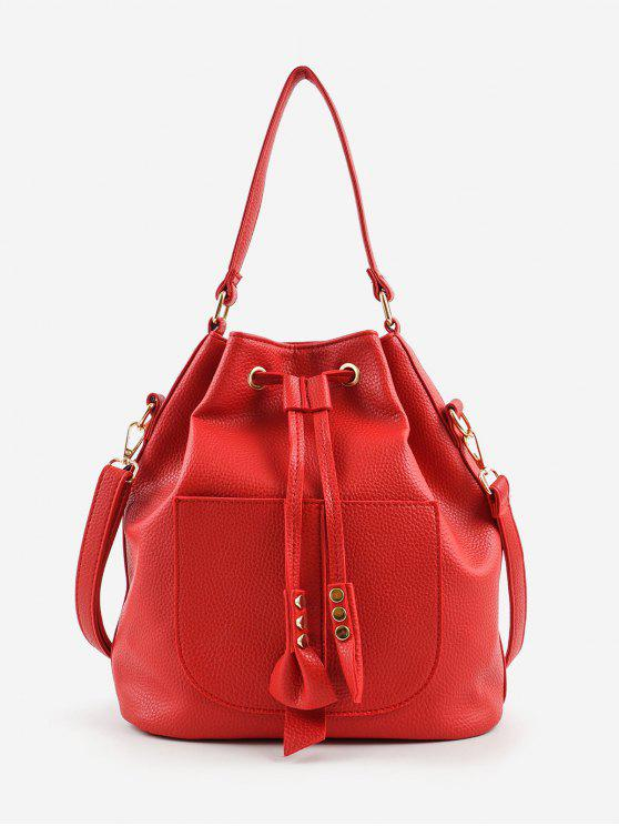 shops Minimalist String Leisure All Purpose Crossbody Bag - RED