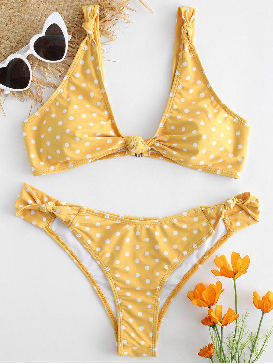 Bikini A Pois Annodato - Giallo Rubber Ducky M