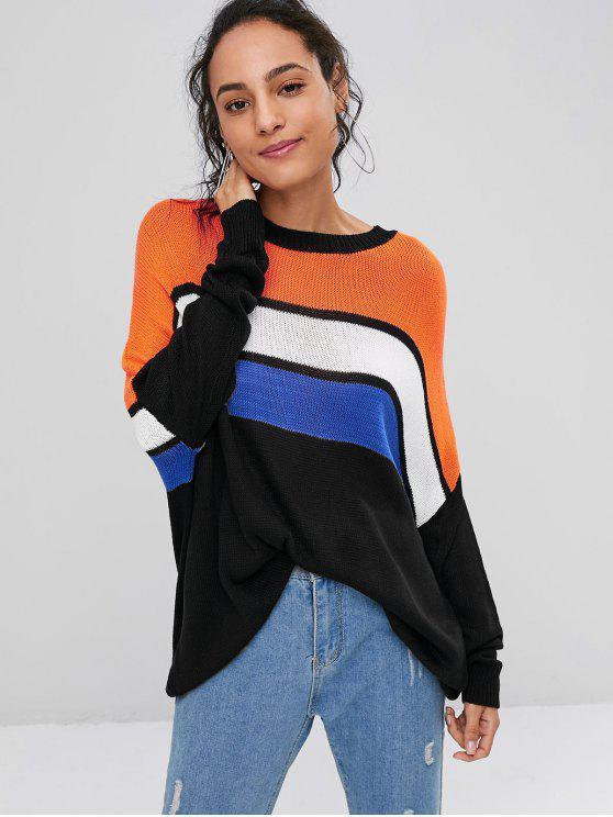 buy Oversized Stripes Sweater - MULTI ONE SIZE