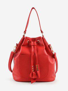 Minimalist String Leisure All Purpose Crossbody Bag - Red