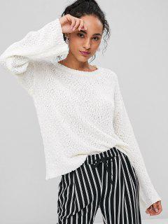 Pullover Schlichter Sweater - Weiß