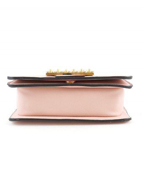 Металлическая цепочка Искусственный жемчуг С пряжкой Ретро Сумка - Розовый  Mobile
