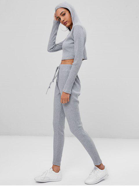 Traje corto de chándal y pantalones cortos - Gris S Mobile