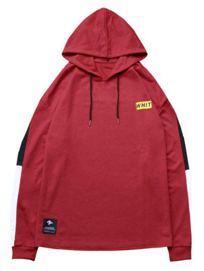 Zaful Contrast Sideblock Patch Detail Hoodie