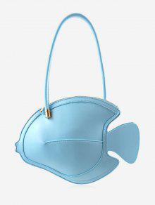 حقيبة يد جلدية فو جلدية نمط شيك الحد الأدنى - السماء الزرقاء
