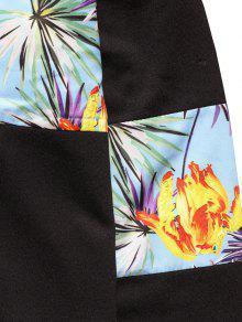 Sudadera Capucha Con De Negro Flores Estampado Con S x1xwqdrS5