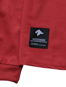 Casta Patch M Detail Sideblock Contraste Hoodie Rojo o SIfzq
