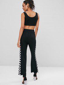 Mangas Checker S Sin Camiseta De Conjunto Pantalones Y Negro 8qXRRF