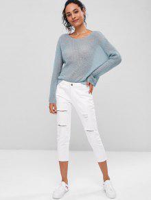 Plain 233;ter Opaco Pullover Su Azul Liso S ft8vqwdxpn