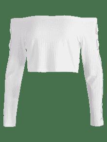 Recorte L Adornado En Camiseta Con Blanco El Hombro 0Hq55p