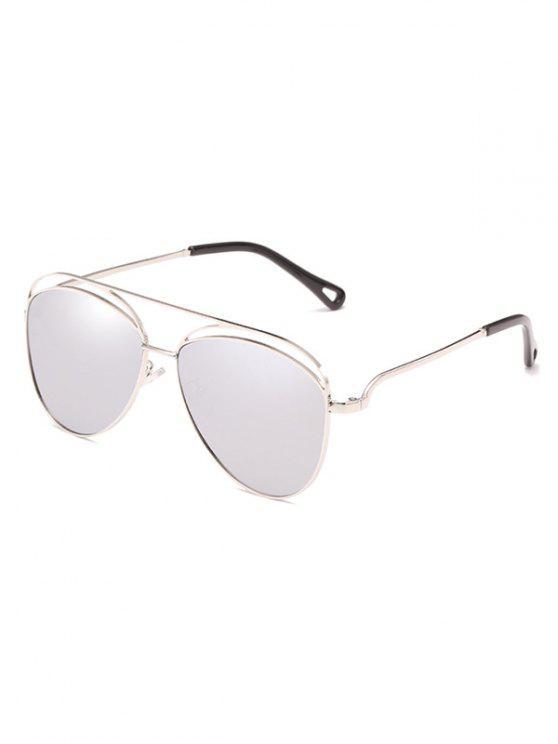 Anti Müdigkeit aushöhlen Rahmen übergroßen Sonnenbrillen - Platin