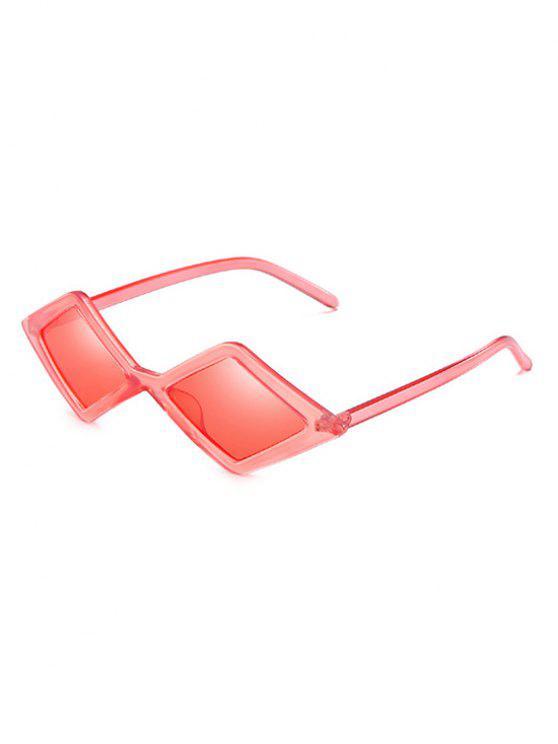 Stilvolle unregelmäßige Rhombus-Linse geometrische Sonnenbrille - Valentinstag Rot