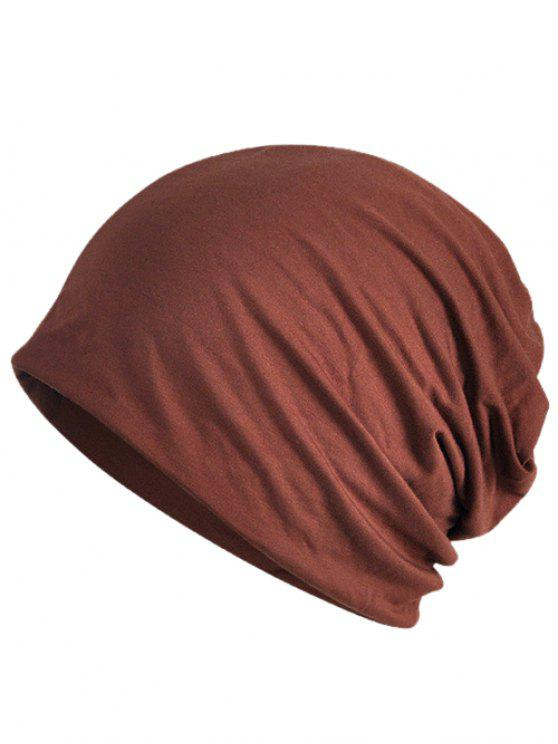 shop Simple Solid Color Soft Slouchy Beanie - COFFEE