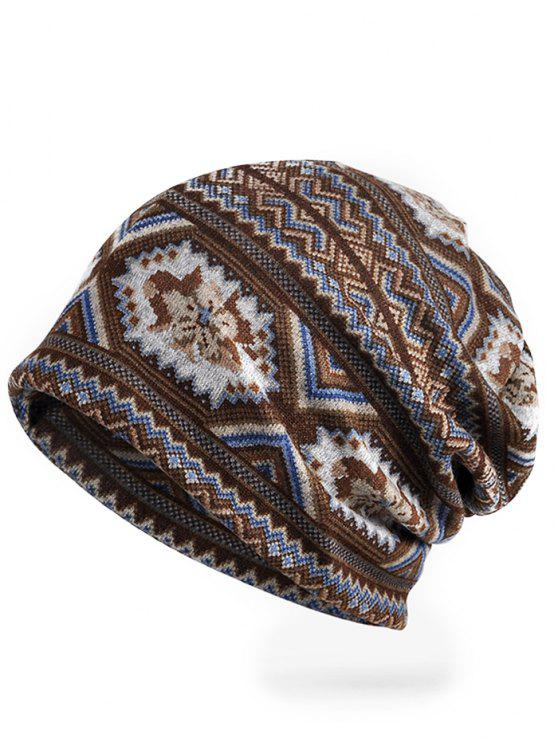 trendy Outdoor Open Top Stretchy Slouchy Beanie - COFFEE