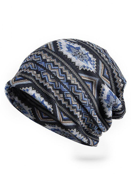 fashion Outdoor Open Top Stretchy Slouchy Beanie - BLUE