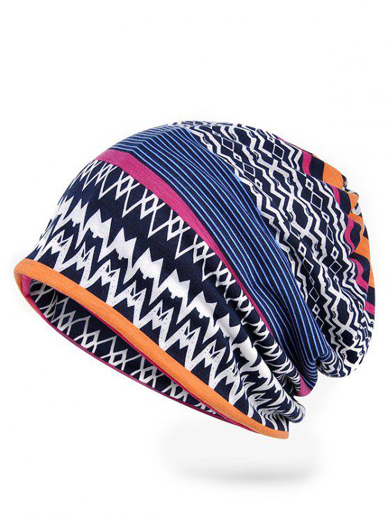 sale Vintage Irregular Wave Striped Pattern Beanie - ROYAL BLUE