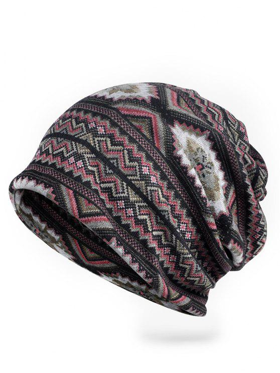 Outdoor Open Top Stretch Slouchy Beanie - roda rot