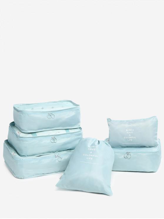 Conjunto de sacos de armazenamento de 6 peças - Azul Lago