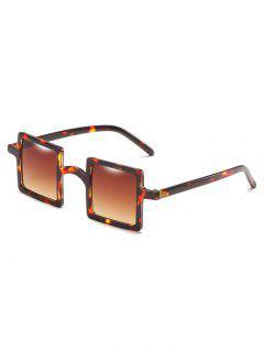 Retro Squared Lens Novelty Sunglasses - Light Brown