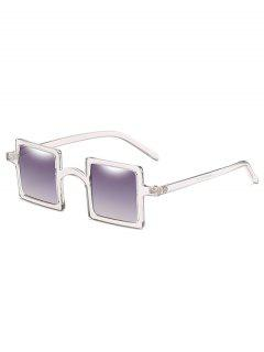 Retro Squared Lens Novelty Sunglasses - Vampire Gray