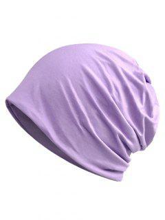 Simple Solid Color Soft Slouchy Beanie - Mauve
