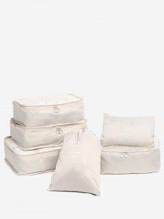 6 Pieces Travelling Storage Bag Set - Champagne