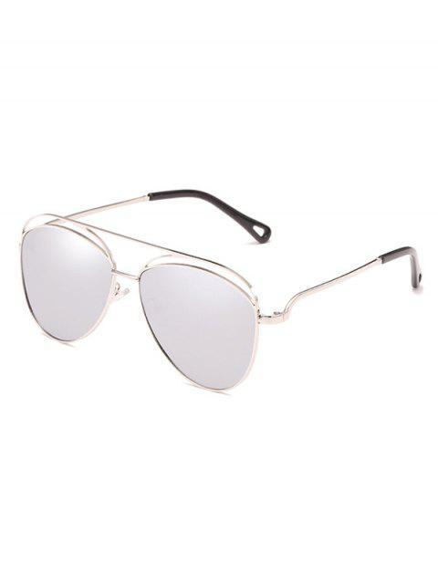 Gafas de sol de gran tamaño con marco anti-fatiga - Platino  Mobile
