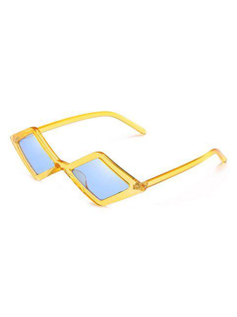Lentes de sol geométricas con lente de rombo irregular elegante - Azul Acero Ligero  Mobile