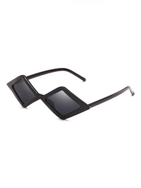 Lentes de sol geométricas con lente de rombo irregular elegante - Negro   Mobile