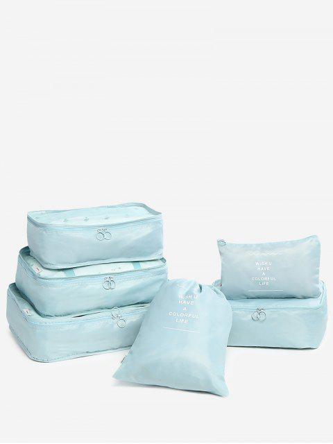Juego de bolsas de viaje de 6 piezas - Lago Azul  Mobile