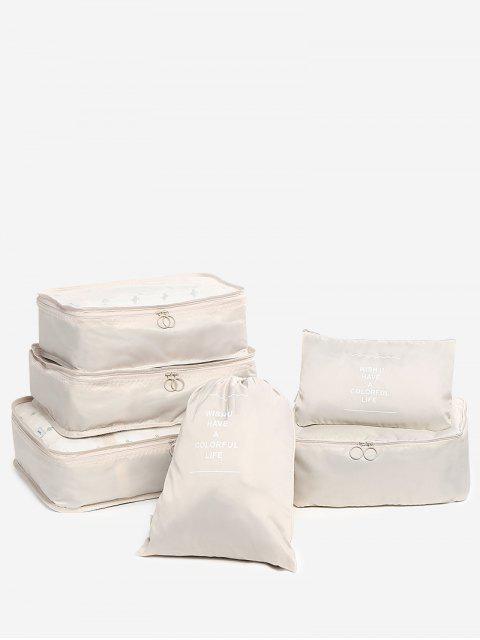 sale 6 Pieces Travelling Storage Bag Set - CHAMPAGNE  Mobile