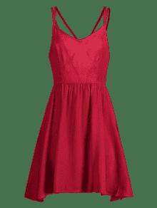 Rojo Amo Sundress L Cami Backless 4qtx1WEwF7