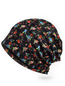 ازدهار الأزهار الدانتيل تميل قبعة صغيرة - أسود