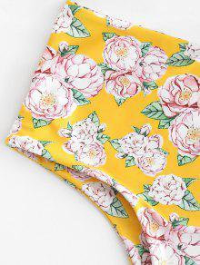 Bikini De Conjunto Grande De Amarillo Floral o Dise Con L Caucho Talla Ducky Srwaq5w1