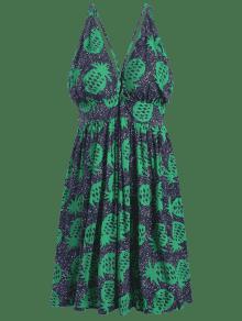 Espalda Pi L Vestido Sin De a Multicolor Estampado 1vnEqwn6