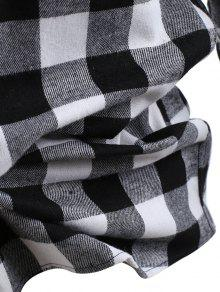 Bolsillo Botones Impresi Negro Xs Con Camisa Comprobar La De 243;n De wPq1xARRX