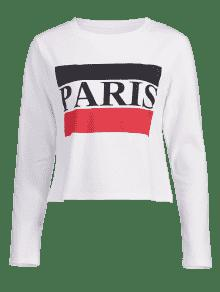 S Paris Graphic Contraste Top Blanco RIw40Zxq