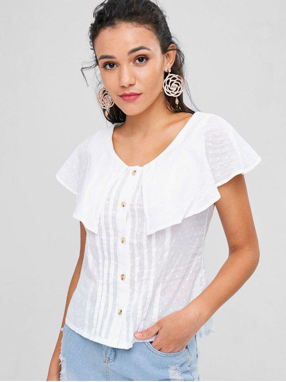 sale Overlay Button Up Top - WHITE M