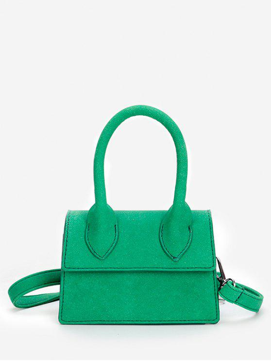 Minimalista Flapped Stitching Chic Sling Bag - Verde