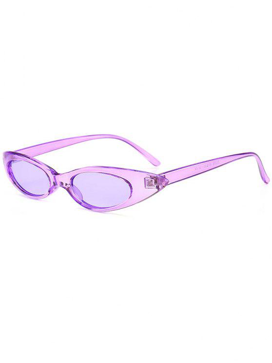 Anti-UV-kleine ovale Sonnenbrille Sonnenbrille - Mauve