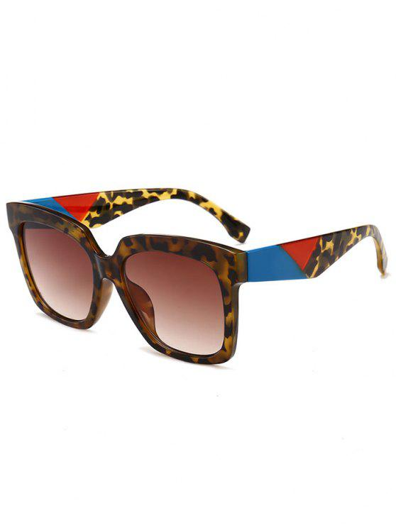 Anti-Ermüdung Full Frame Square Sonnenbrille - Leopard