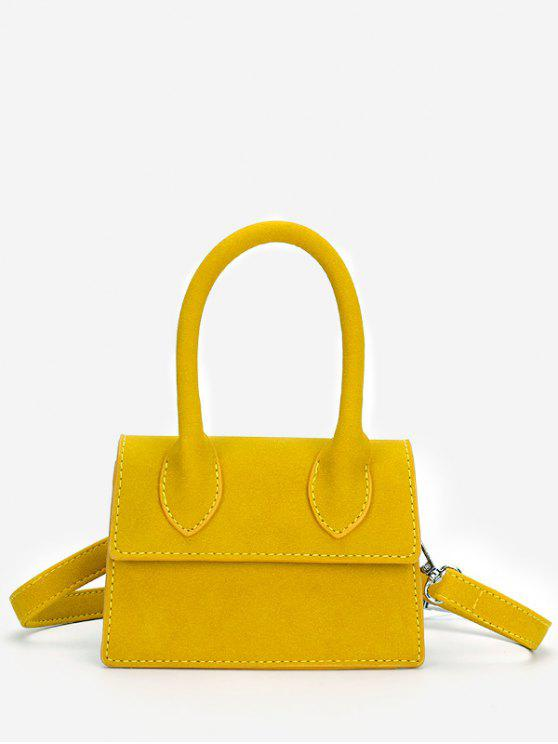 online Minimalist Flapped Stitching Chic Sling Bag - YELLOW