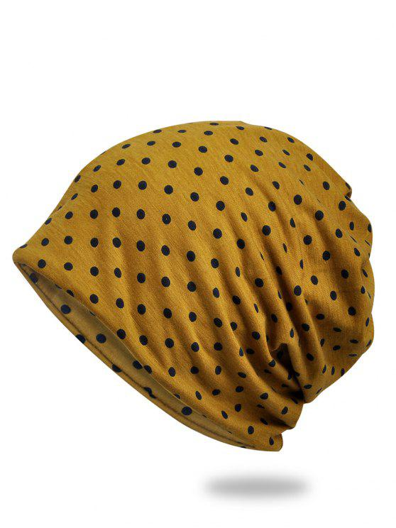 lady Lightweight Polka Dots Slouch Beanie - GOLDEN BROWN